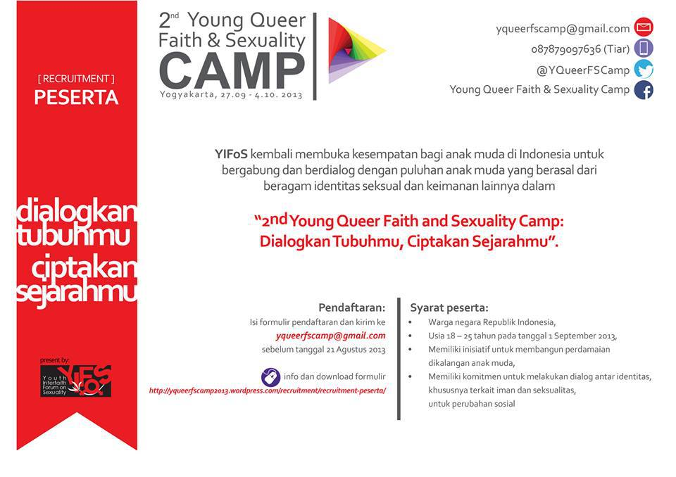 Pendaftaran Peserta 2nd Young Queer Faith and Sexuality Camp